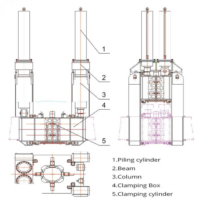 Rotary Hydraulic Press In Pile Driver For Square Pile Spun Pile Foundation
