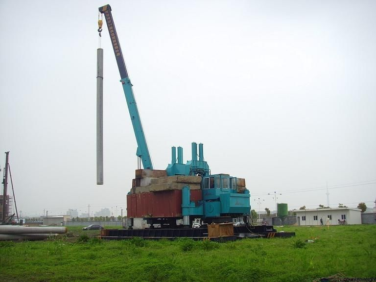 Rotary Hydraulic Piling Machine Fast Piling Speed 500T Piling Capacity