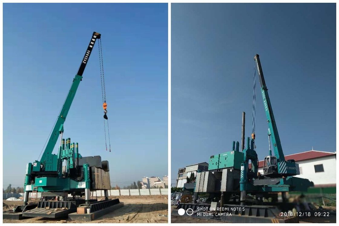 Highway Hydraulic Static Pile Driver / Hydraulic Press In Pile Driver