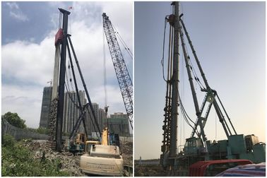 China Crawler Bore Pile Machine , Excavator Mounted Hydraulic Pile Driver distributor