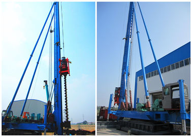 China Screw Borehole Drilling Rig Max Depth 34meters Crawler Movement Way factory