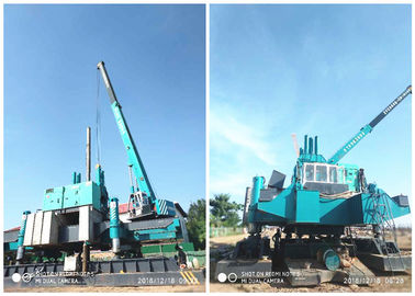 China Roadside Hydraulic Piling Machine 460T Piling Capacity No Air Pollution factory