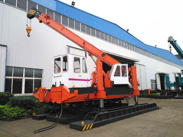 China 120 Ton Pile Driver Machine For Concrete Pile , Orange Mini Piling Machine distributor
