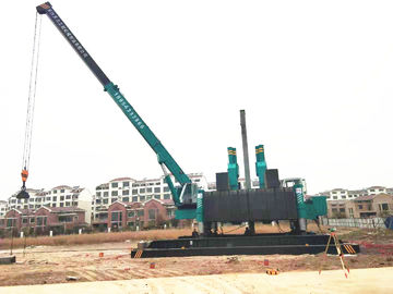 China Compact Pile Driver Machine For Spun Pile And Square Pile Without Noise And Pollution distributor