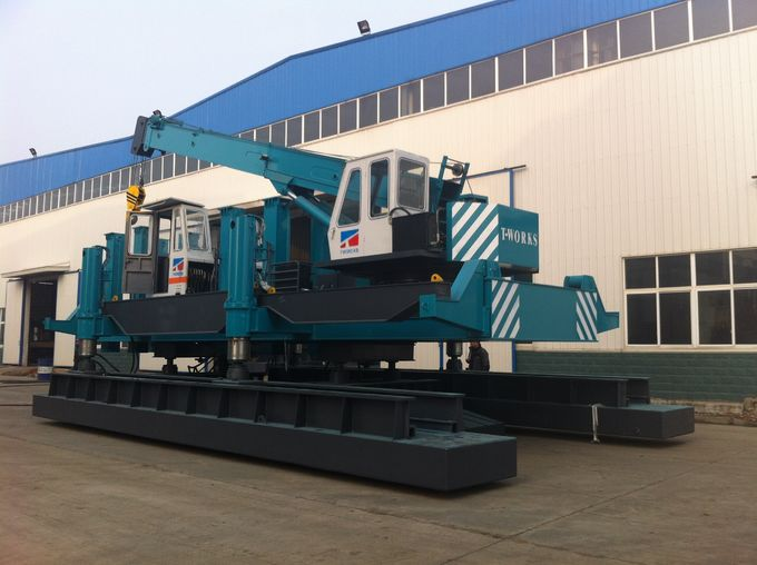 Silent Hydraulic Piling Rig Machine 460 Tons Piling Capacity Eco - Friendly 0